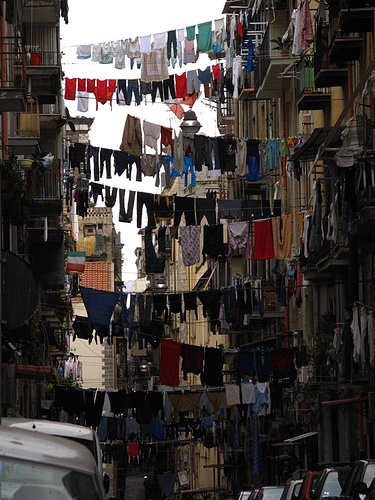neighborhood streets of napoli   (yep! this is where my nonna is from and I cannot tell you how many stories she would tell about the laundry, hahah)