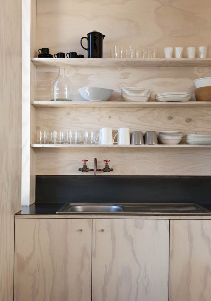 Ply kitchen shelves and cabinetry