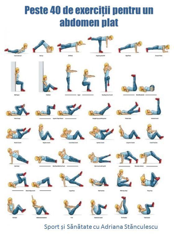 peste 40 de exercitii pentru un abdomen plat