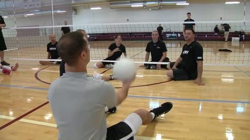 Video of Wounded Warriors training for an upcoming seated volleyball match in the Warrior Games. Available in high definition.    Read more: http://www.dvidshub.net/video/142405/seated-volleyball-practice-warrior-games-2012#ixzz1t4zyUC5E