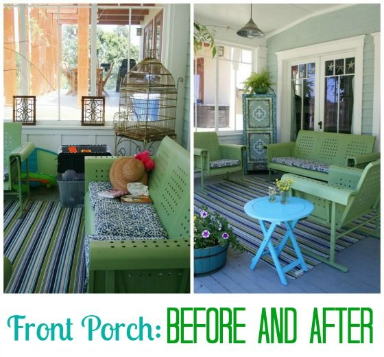 Front Porch Before And After A House A Home Pinterest