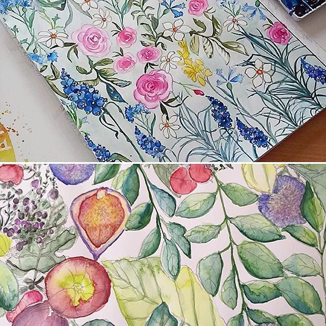 31 best Watercolor Coloring Books for Adults images on Pinterest ...
