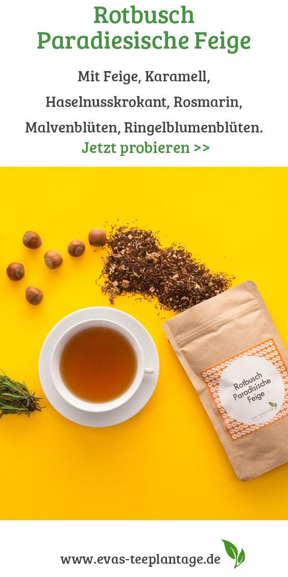 Rooibos-Tee mit dem Geschmack von Feige und Karamell.