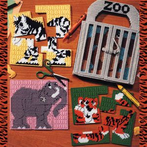 Download Plastic Canvas Patterns | Zoo Puzzle Set Plastic Canvas Patterns ePattern - Leisure Arts good for young toddlers