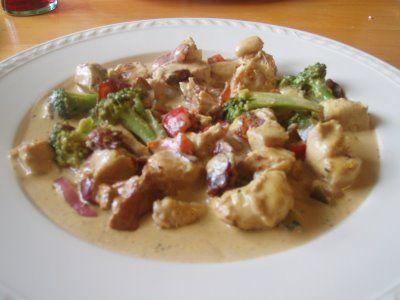 Anette`s lavkarboblogg: Kyllingfilet i fløtesaus