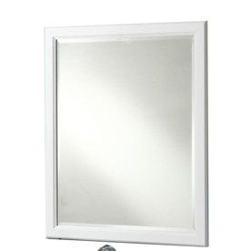 36 x 30 mirror for bathroom style selections 36 in h x 30 in w vanover white 24765