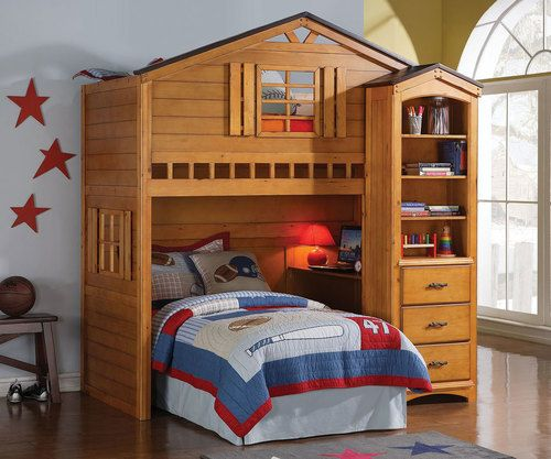 Buy the Acme Furniture Tree House Loft Bed at Kids Furniture Warehouse. The Tree House Loft Bed is sure to transform any room into the ultimate hangout.
