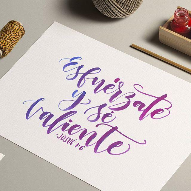 """""""Be strong and courageous"""" Joshua 1:6🙌  Motivación para empezar una semana llena de sueños, metas y proyectos! ❤"""