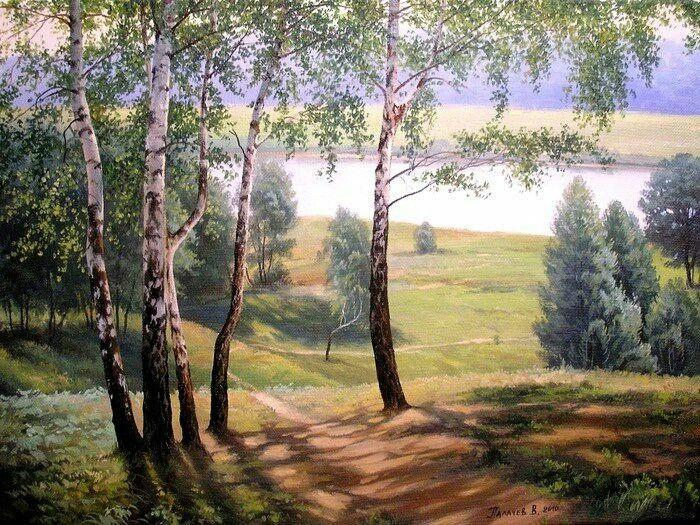 такие пейзажи средней полосы россии рисунки особенность