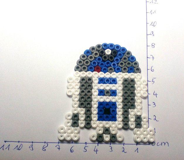 R2D2 Star Wars hama beads by Astrid's Zauberstübchen