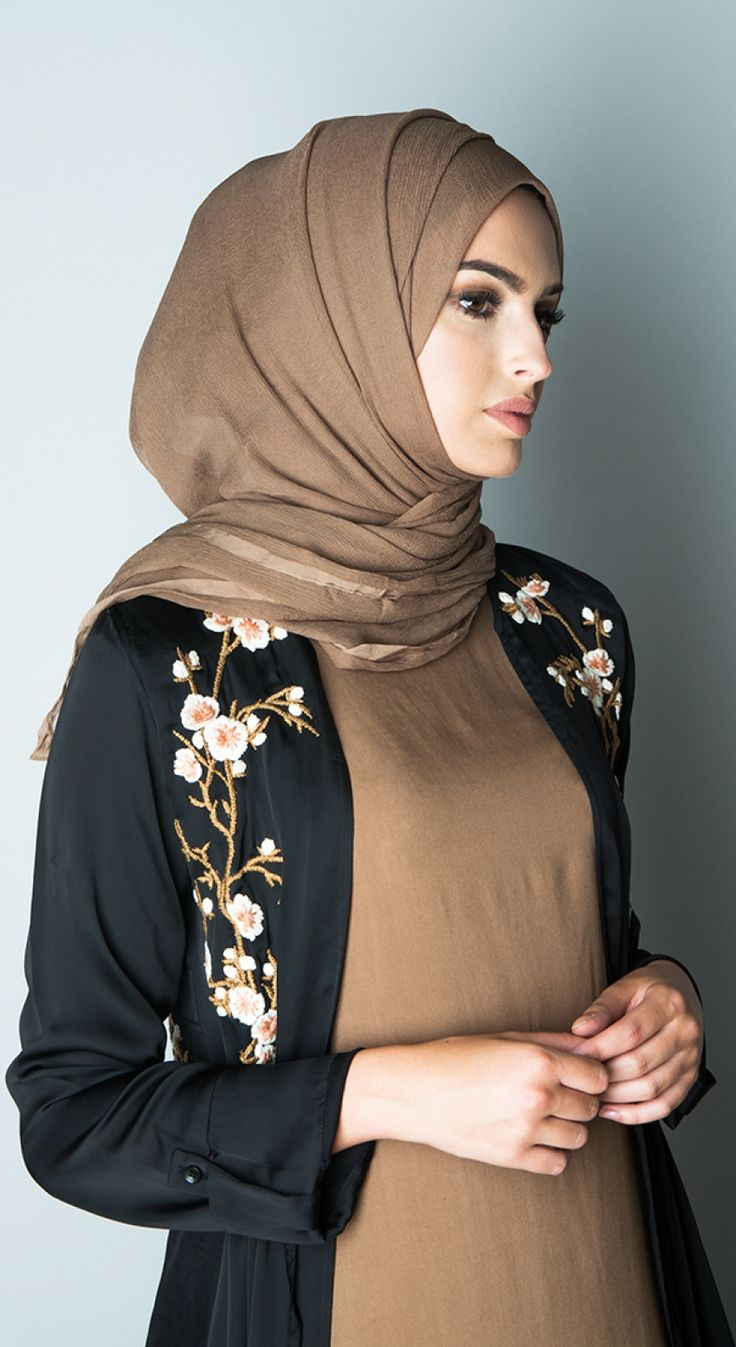 Cuban Coffee Chiffon Silk Hijab