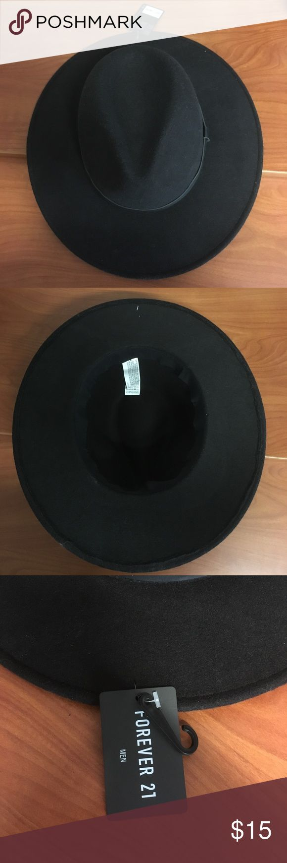 Forever 21 Hat/ Fedora Black, New, Never used, Tags still on 21men Accessories Hats