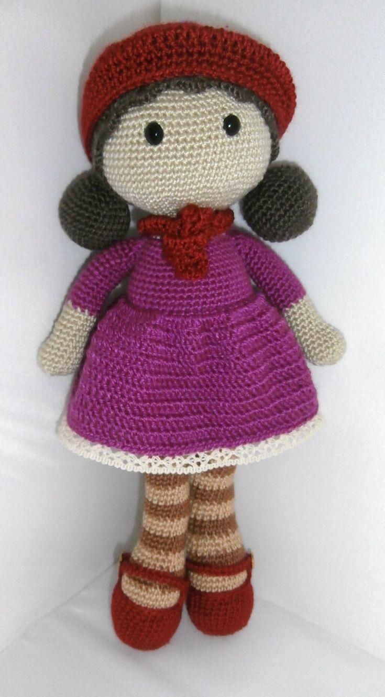 preciosa muñeca tejida a crochet