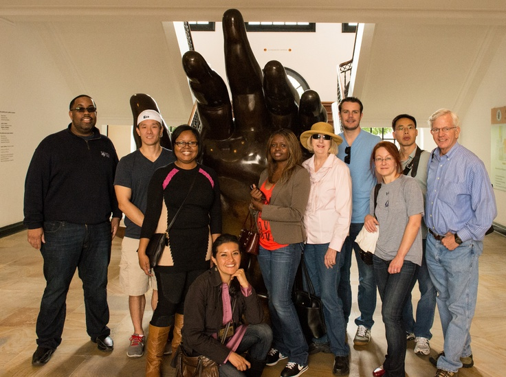 Rice University - Jones Graduate School of Business visits the Botero Museum in Bogotá