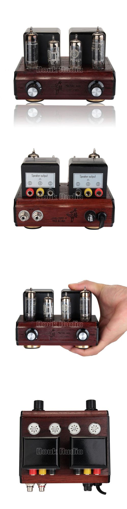 Vintage Amplifiers and Tube Amps: Douk Audio Pc92+6Aq5 Vacuum Tube Integrated Amplifier Mini Stereo Desktop Amp -> BUY IT NOW ONLY: $149.99 on eBay!