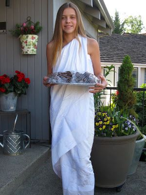 how to make a sexy toga out of a sheet | ... when you don't have a solid white sheet to make a last minute toga