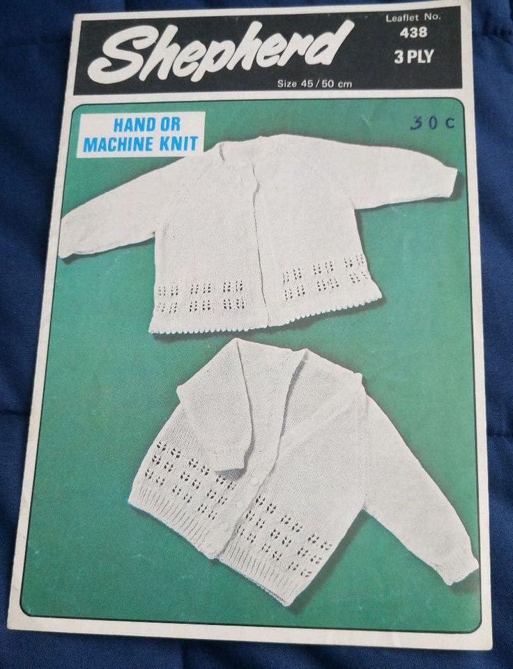 Baby Matinee Coat & Cardigan Shepherd vintage knitting pattern MACHINE or HAND #Shepherd
