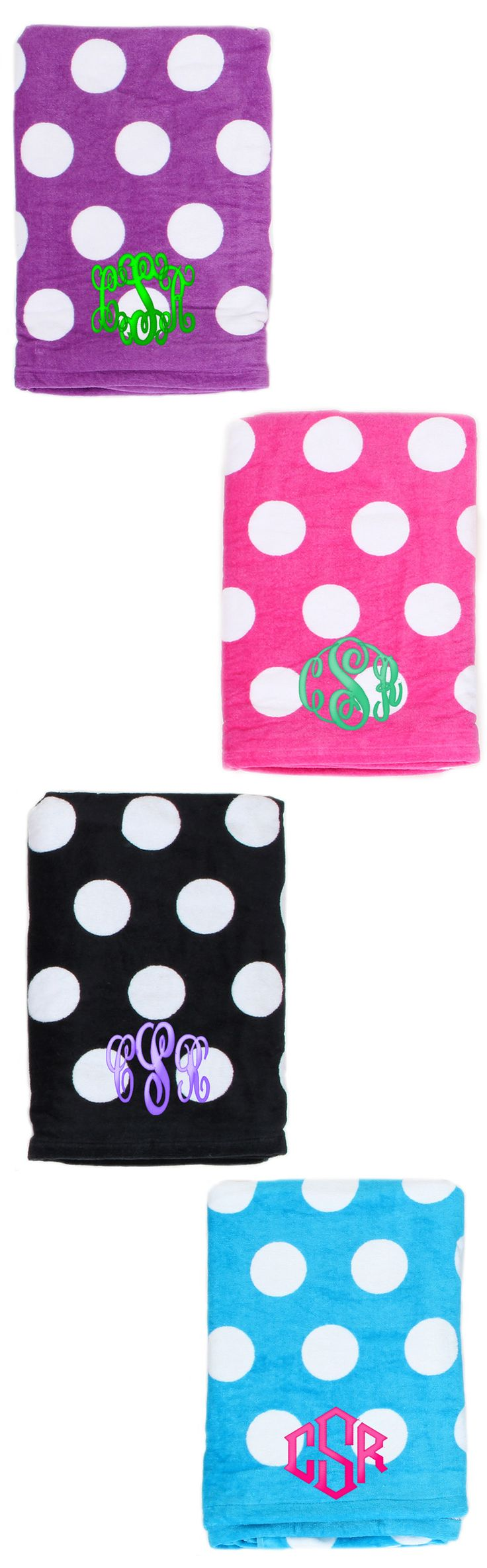 Relax by the pool in style this Summer! Monogrammed Beach Towel from