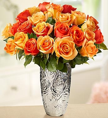 Exuberance, enthusiasm and fiery passion are on display in this glowing bouquet of orange roses - perfect for Fall! #fallflowers #fallroses #autumn #flowers #roses: Flowers Gardens, Flower Rose, 1800Flowers Ros, Autumn Flower, Rose Bouquets, Perfect Flower, Orange Rose, 1 800 Flowers Com, Sunsets Rose