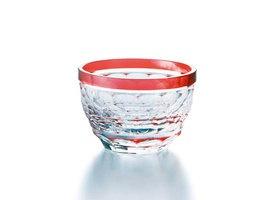 traditional glass tableware from Kagoshima in Japan 薩摩切子 盃[亀甲]