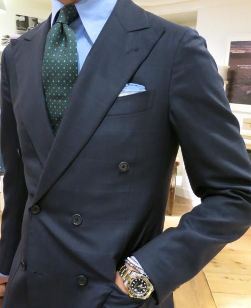 """Ricardo wearing our """"Forest"""" floral silk tie."""