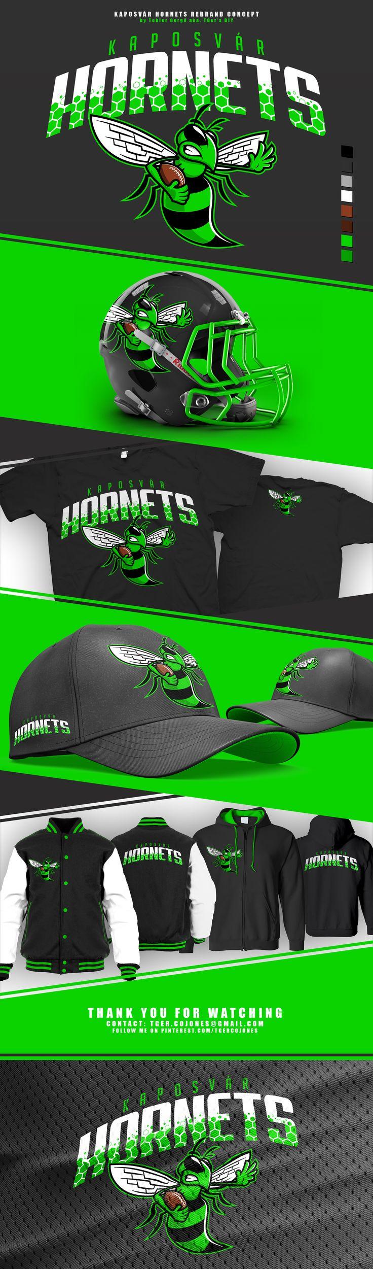 Mascot logo and rebrand concept for the Kaposvár Hornets football team from Hungary. Made by Tobler Gergő aka TGer's DIY Follow me at Pinterest.com/tgercojones Learn more: https://www.facebook.com/KaposvarHornets/