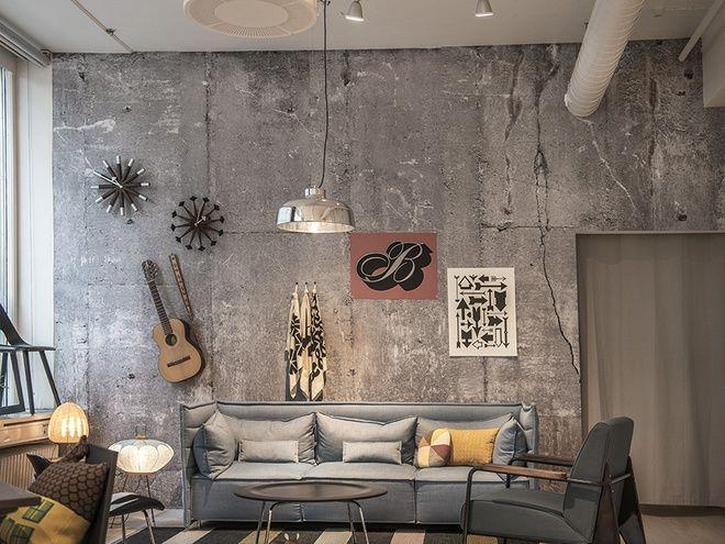 Бетонные стены: нетрадиционное и стильное решение интерьера (фото) - tochka.net