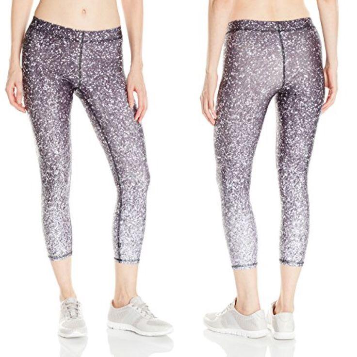 Black and White Ombre Glitter Capri Pants   http://amzn.to/2lj9uVW