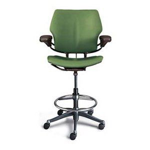 Humanscale Freedom Ergonomic Drafting Leather High Office Chair