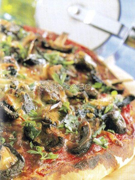 Gombás pizza | Receptek | gasztroABC