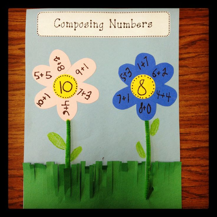 Number bond flowers