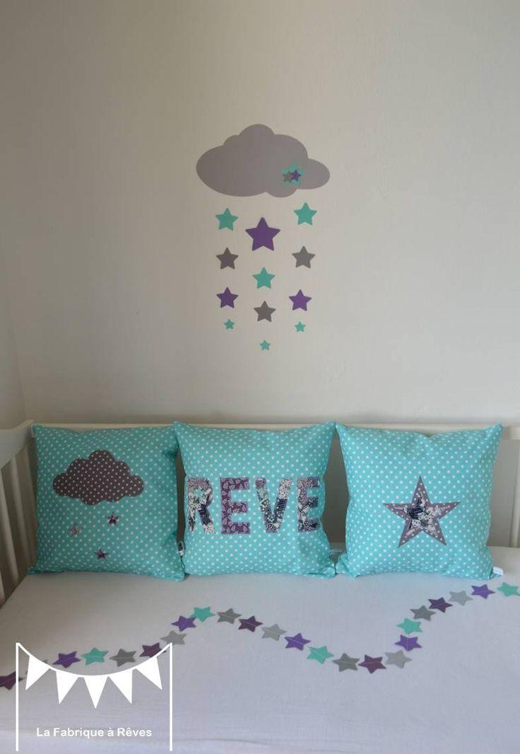 Les 25 meilleures id es de la cat gorie chambres de filles turquoise sur pinterest chambres de - Chambre mauve et turquoise ...