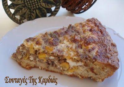 Tart with meat and corn - Τάρτα με κιμά και καλαμπόκι