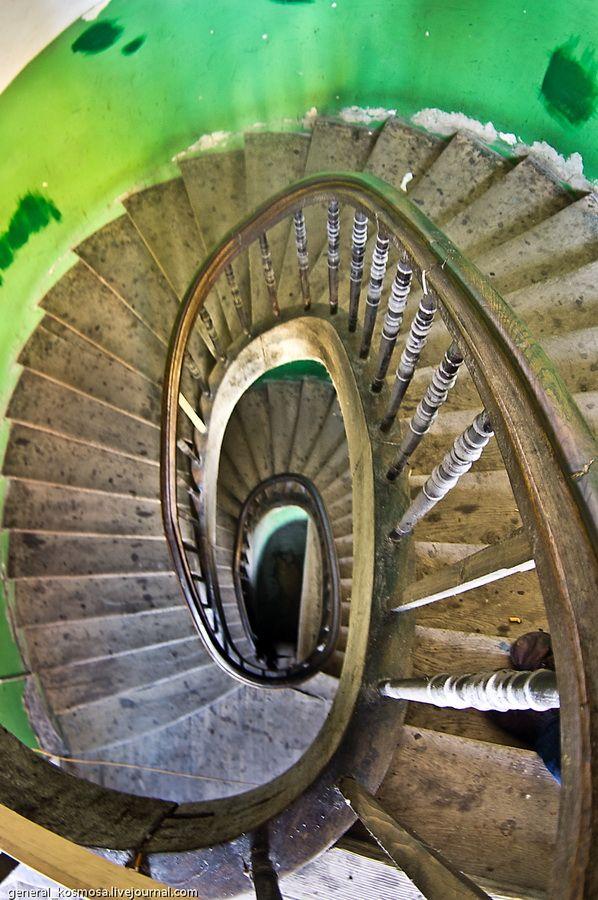 Beautiful winding stairs...
