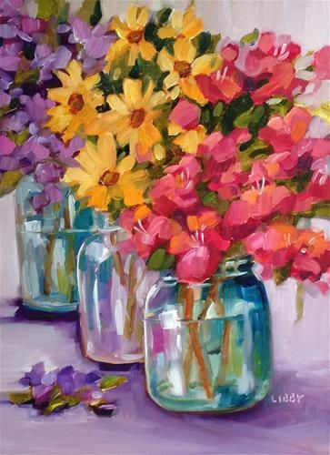 """Daily+Paintworks+-+""""Sweet+Memory""""+-+Original+Fine+Art+for+Sale+-+©+Libby+Anderson"""