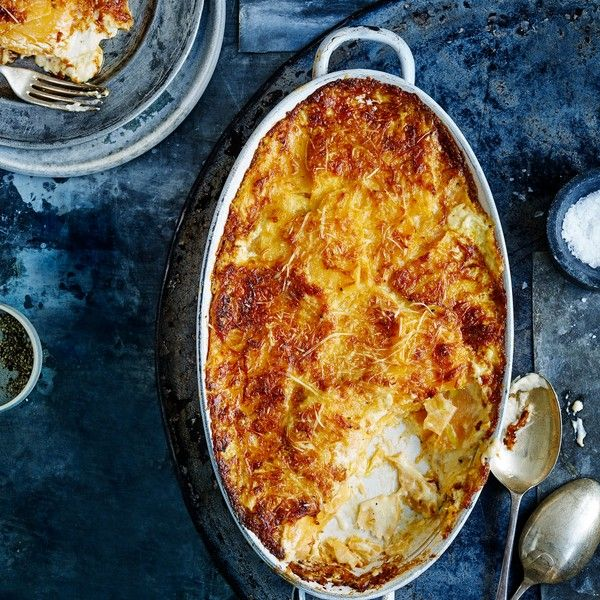 Gruyère and swede gratin