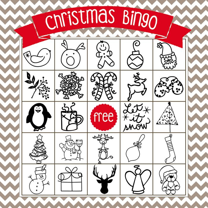 Printable Christmas Bingo Game in English and Spanish