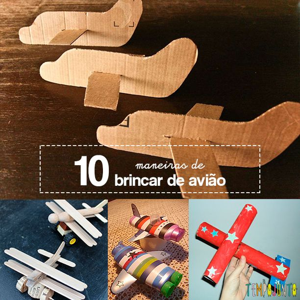 10 ideias criativas para você brincar de avião com as crianças. Tem ideias originais mesmo para que não tem habilidade para fazer trabalhos manuais.