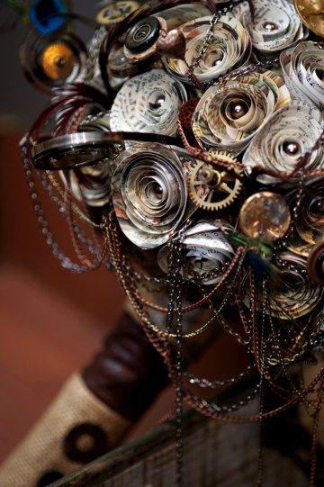 Steampunk wedding as seen on @offbeatbride #steampunk #weddings