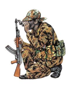 Teniente, 32 Batallón, 1985.