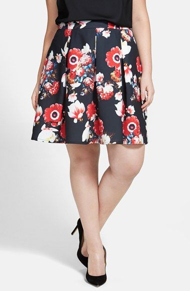 Free shipping and returns on City Chic 'Beautiful Bloom' Pleat Circle Skirt (Plus Size) at Nordstrom.com. Why wait for spring to bloom? Even on the greyest of days, this swingy little skirt with its vibrant floral print will set your spirits soaring.