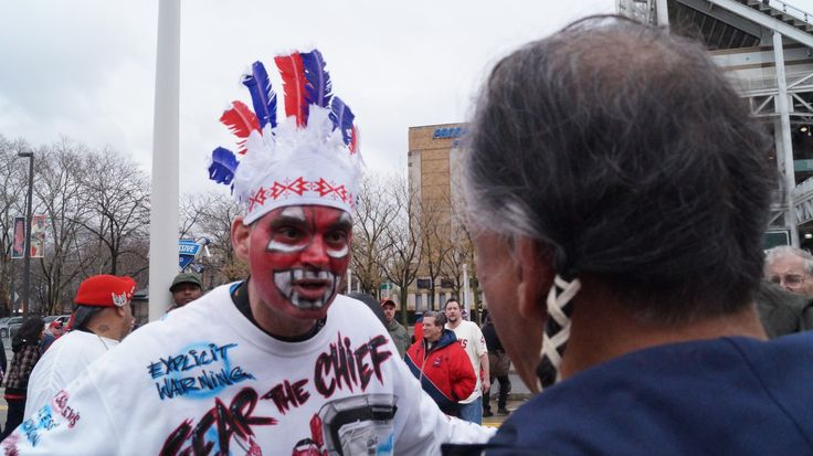 """""""It's Not Racist!"""" And Other Responses to Wahoo Protesters at Cleveland Indians Home Opener"""