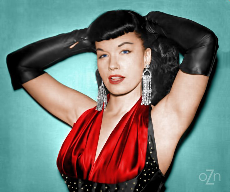 Photo Page: Bettie Page (colorized)