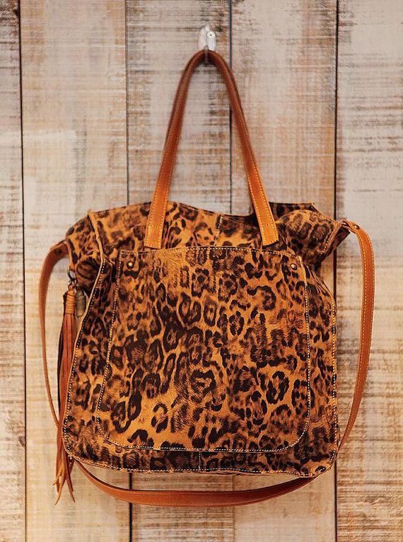 Leopard print tote bag Animal print purse Leopard by Percibal