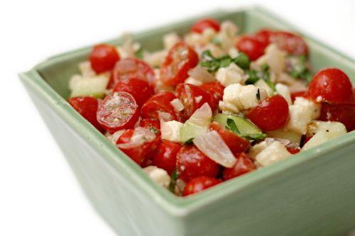 Cherry Tomato Salad cherry tomatoes cucumber kalamata olives feta ...