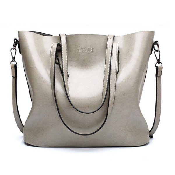 Fashion Women/'s PU Leather Shoulder Bag Large Capacity Satchel Lady Handbag Tote