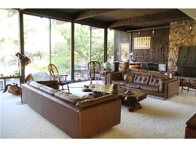 La Jolla Home For Sale With Amazing Living Room Wood Beam Ceiling And Huge Fireplace