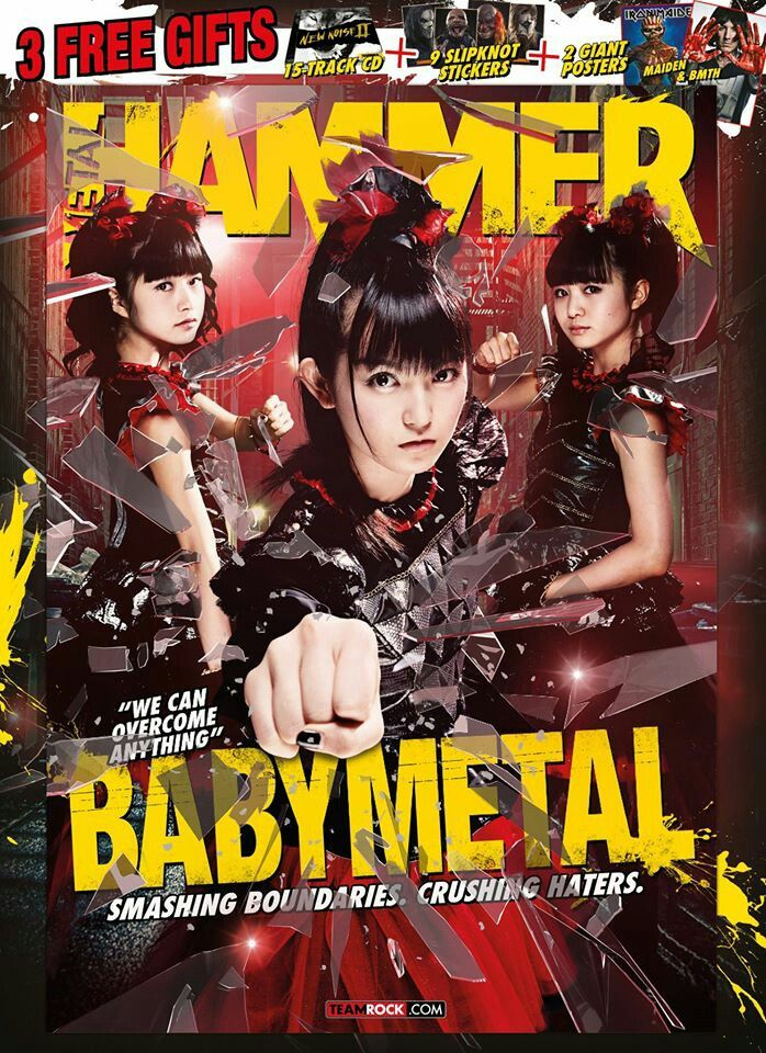RESISTANCE IS FUTILE: Japan's own Babymetal are back again on the April 2016's Metal Hammer issue as Hammer was given backstage access to their biggest show to date. Also, more metal news including Slipknot, Killswitch Engage, Halestorm and Amon Amarth…plus the controversy and the aftermath surrounding ex-Pantera's Phil Anselmo's racist comments.