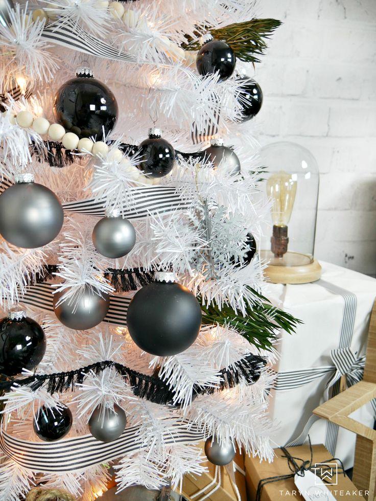Modern Black And White Christmas Tree White Christmas