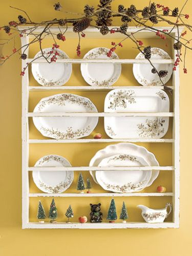 The beauty and variety of pinecones make them a welcome addition to the home. Display your favorite finds as you would a cherished collection of rocks or seashells. Embellish a window frame, mirror, plate rack, or any other place in your home where you can tuck a branch of pinecones.   - CountryLiving.com
